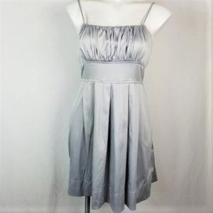 Dots Silver Pleated Formal Dress